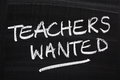 Teachers Wanted Royalty Free Stock Photo