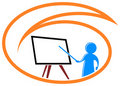Teaching logo Stock Image