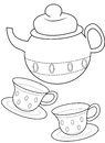 Teacup coloring page useful as book for kids Stock Photo