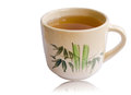 Teacup for drinking on white background Stock Images