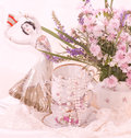 Teacups, ballet dancer statuette, frame Stock Photography