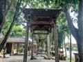 Teak carved gate in the courtyard of the Sunan Kalijaga pavilion
