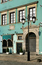 Teal Building in Warsaw Royalty Free Stock Images