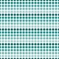 Teal et ba blanc de répétition de dot abstract design tile pattern de polka Photographie stock libre de droits