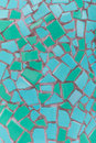 Teal Mosaic Tile Texture Royalty Free Stock Photo
