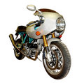 Teal and Silver Motorbike Royalty Free Stock Images