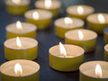 Tealights image of burning tealight candles Stock Photo