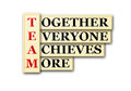 Team acronym concept of and other releated words Royalty Free Stock Photo