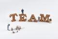 Team building idea Royalty Free Stock Photo