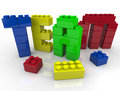 Team Building with Toy Blocks Royalty Free Stock Photo