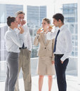 Team of business people drinking champagne Royalty Free Stock Photo
