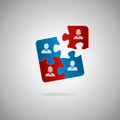 Team concept business human resources cooperation connection and unity concepts good fit together like puzzle pieces employment Royalty Free Stock Image