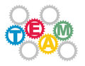 Team concept with color gears Royalty Free Stock Photo