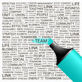 Team concept illustration graphic tag collection wordcloud collage Stock Images