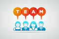 Team concept vector teamwork and illustration Stock Images