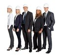 Team of confident civil engineer against white Royalty Free Stock Photo