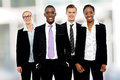 Team of corporate associates posing group business people together Stock Image