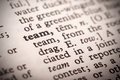 Team Definition Royalty Free Stock Photo