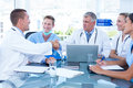 Team of doctors having a meeting Royalty Free Stock Photo