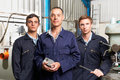 Team Of Engineers In Factory Royalty Free Stock Photo