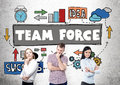 Team force concept Royalty Free Stock Photo