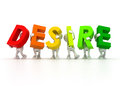 Team forming desire word d isolated Stock Image
