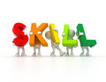 Team forming SKILL word Royalty Free Stock Photo