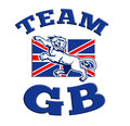 Team GB Lion attacking GB British union jack flag Stock Photography