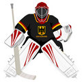 Team Germany hockey goalie Royalty Free Stock Images