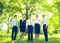Team of Green Business People Royalty Free Stock Photo