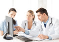 Team or group of doctors working picture young Stock Image