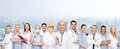 Team or group of female doctors and nurses medicine healthcare concept Royalty Free Stock Photo