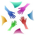 Team hands teamwork helping community and diversity Royalty Free Stock Photos