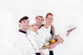 Team of happy chefs Royalty Free Stock Photography