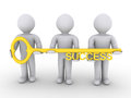 Team is holding key of success Royalty Free Stock Photo