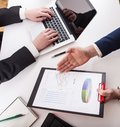 Team job young businessmans crew working with new startup projec Royalty Free Stock Photo