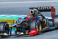 Team Lotus Renault F1, Romain Grosjean, 2012 Stock Foto