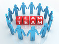 Team management d render close up Stock Photos