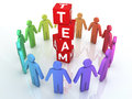 Team management d render colorful close up Stock Photo