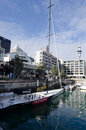 Team new zealand tnz auckland june nz sail boat at auckland viaduct harbor basin on june they became the first from a country Stock Images