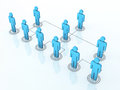 Team organization chart d render close up Royalty Free Stock Photography