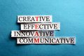 Team paper acronym in business concept words on cut hard light Stock Image