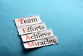 Team paper acronym in business concept words on cut hard light Royalty Free Stock Photo