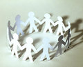 Team of paper doll people Royalty Free Stock Photo