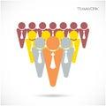 Team partners friends het vectormalplaatje van het tekenontwerp Royalty-vrije Stock Afbeelding