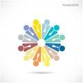 Team partners friends het vectormalplaatje van het tekenontwerp zaken teamw Royalty-vrije Stock Foto