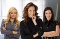 Team portrait smiling attractive businesswomen Stock Image