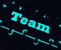 Team puzzle showing partnership together gemeinschaft und einheit Stockbilder