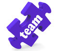 Team puzzle shows together community und einheit Stockbild