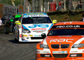 Team RAC BMW 320 BTCC Royalty Free Stock Images